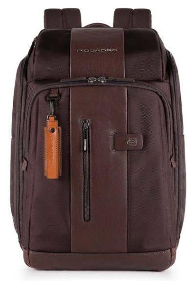 Рюкзак Piquadro Brief темно-коричневый, кожа натуральная и ткань (CA4443BR/TM) - фото 1