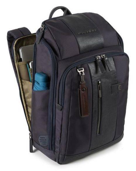 Рюкзак Piquadro Brief темно-коричневый, кожа натуральная и ткань (CA4443BR/TM) - фото 2