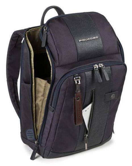 Рюкзак Piquadro Brief темно-коричневый, кожа натуральная и ткань (CA4443BR/TM) - фото 3