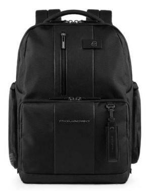 Рюкзак Piquadro Brief черный, кожа натуральная и ткань (CA4532BR/N)