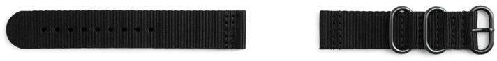 Ремешок Samsung Galaxy Gear Sport Premium Nato черный (GP-R600BREECAA) - фото 1