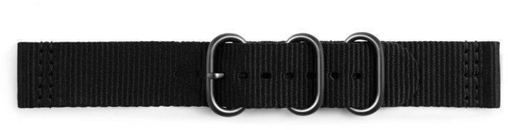Ремешок Samsung Galaxy Gear Sport Premium Nato черный (GP-R600BREECAA) - фото 2