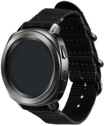 Ремешок Samsung Galaxy Gear Sport Premium Nato черный (GP-R600BREECAA) - фото 3