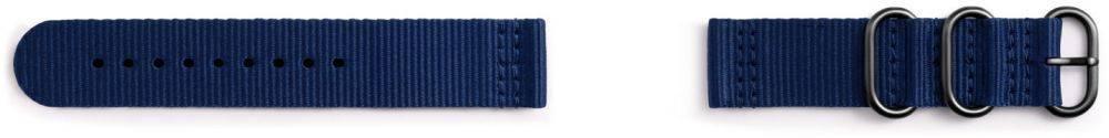 Ремешок Samsung Galaxy Gear Sport Premium Nato синий (GP-R600BREECAB) - фото 1