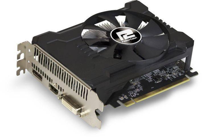 Видеокарта PowerColor Radeon RX 550 2GB 2048 МБ (AXRX 550 2GBD5-DHA/OC) - фото 1