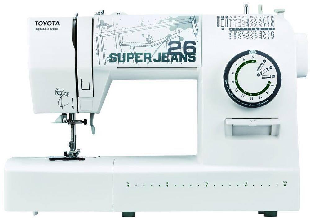 Швейная машина Toyota SuperJeans SuperJ26 черный (SUPER JEANS 26) - фото 1