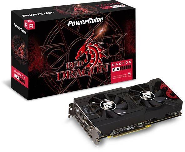 Видеокарта PowerColor Red Dragon RX570 8GB GDDR5 8192 МБ (AXRX570 8GBD5-3DHD/OC) - фото 4