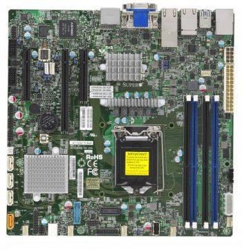 Серверная материнская плата Soc-1151 SuperMicro MBD-X11SSZ-TLN4F-O mATX