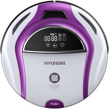 Робот-пылесос Hyundai H-VCRQ70 белый/фиолетовый