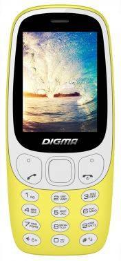 Мобильный телефон Digma Linx N331 2G желтый (LT1042PM)