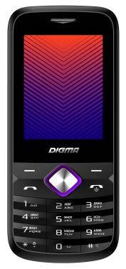 Мобильный телефон Digma Linx A242 черный/пурпурный (LT1043PM)