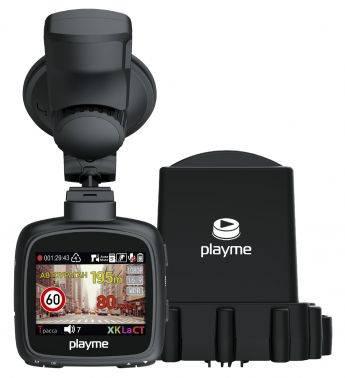 Видеорегистратор с антирадаром Playme MAXI черный