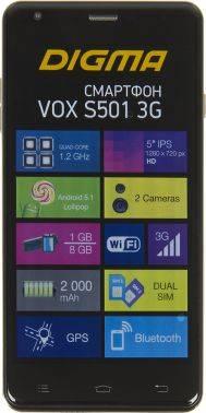 Смартфон Digma S501 3G + Navitel VOX 8ГБ темно-синий (VS5002PG)