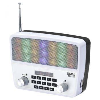 Радиоприемник Сигнал РП-232 белый/черный (17842)