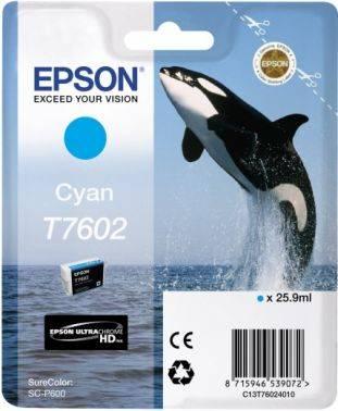 Картридж Epson T7602 голубой (c13t76024010)