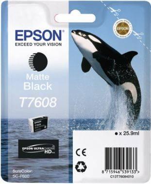 Картридж Epson T7608 черный матовый (c13t76084010)