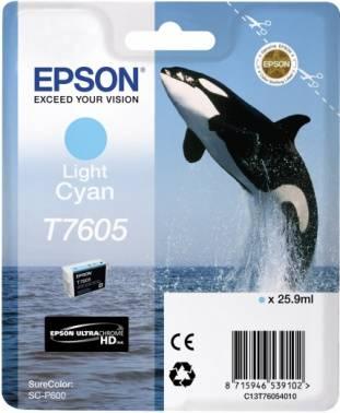 Картридж Epson T7605 светло-голубой (c13t76054010)