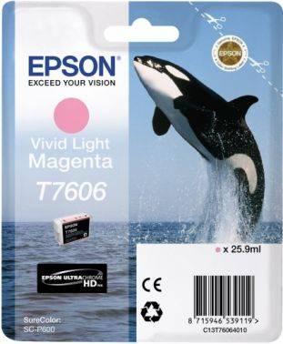 Картридж Epson T7606 светло-пурпурный (c13t76064010)