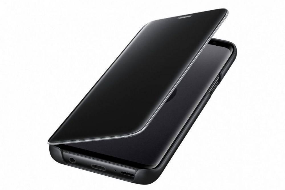 Чехол Samsung Clear View Standing Cover, для Samsung Galaxy S9, черный (EF-ZG960CBEGRU) - фото 4