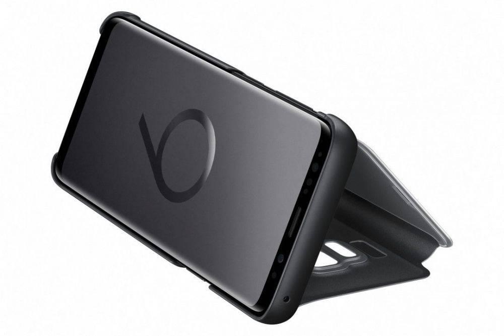 Чехол Samsung Clear View Standing Cover, для Samsung Galaxy S9, черный (EF-ZG960CBEGRU) - фото 5