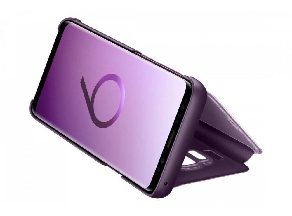 Чехол Samsung Clear View Standing Cover, для Samsung Galaxy S9, фиолетовый (EF-ZG960CVEGRU) - фото 5