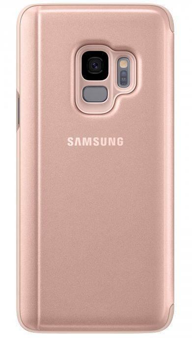 Чехол Samsung Clear View Standing Cover, для Samsung Galaxy S9, золотистый (EF-ZG960CFEGRU) - фото 2