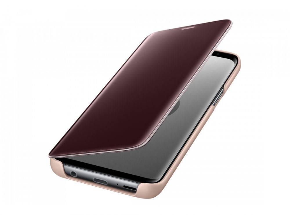 Чехол Samsung Clear View Standing Cover, для Samsung Galaxy S9, золотистый (EF-ZG960CFEGRU) - фото 4