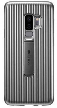 Чехол Samsung Protective Standing, для Samsung Galaxy S9+, серебристый (EF-RG965CSEGRU)