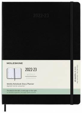 Еженедельник Moleskine Academic WKNT черный (DHB18WN4)