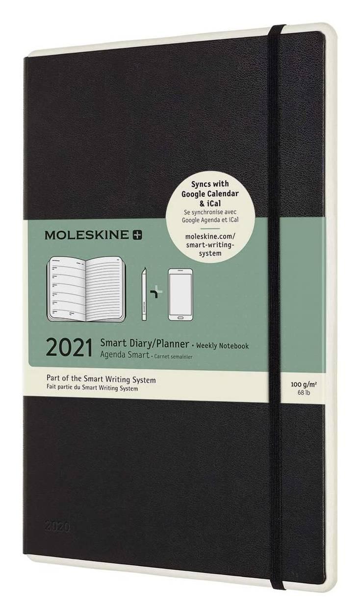 Еженедельник Moleskine Paper Tablet Smart черный (PTDHB12WN3) - фото 1