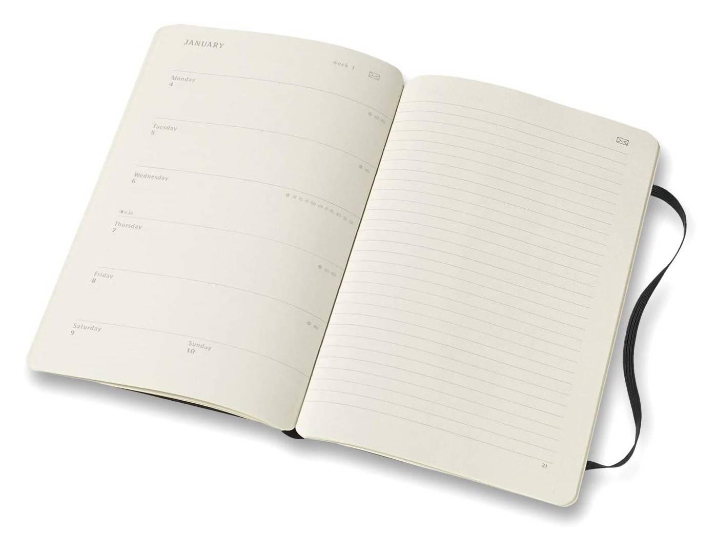 Еженедельник Moleskine Paper Tablet Smart черный (PTDHB12WN3) - фото 3