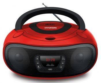Магнитола Hyundai H-PCD280 красный/черный