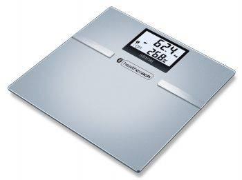 Весы напольные электронные Sanitas SBF 70 BT серый (748.38)