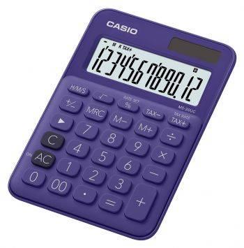 Калькулятор настольный Casio MS-20UC-PL-S-EC фиолетовый 12-разр. (плохая упаковка)