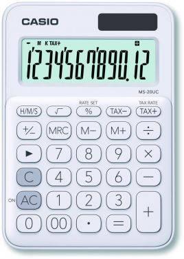 Калькулятор настольный Casio MS-20UC-WE-S-EC белый