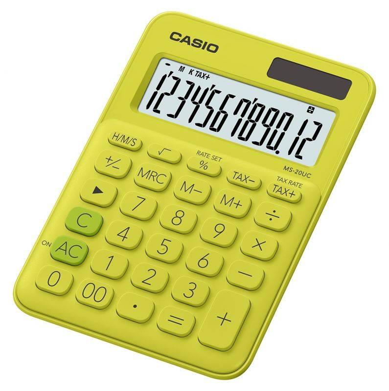 Калькулятор настольный Casio MS-20UC-YG-S-EC желтый - фото 1