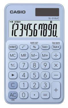 Калькулятор карманный Casio SL-310UC-LB-S-EC светло-голубой