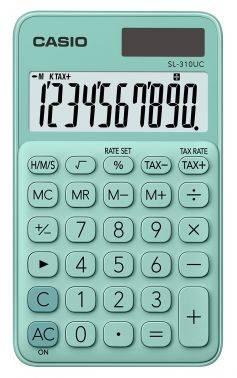 Калькулятор карманный Casio SL-310UC-GN-S-EC зеленый