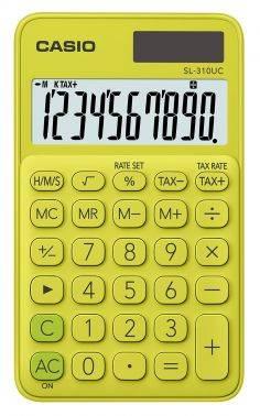 Калькулятор карманный Casio SL-310UC-YG-S-EC желтый
