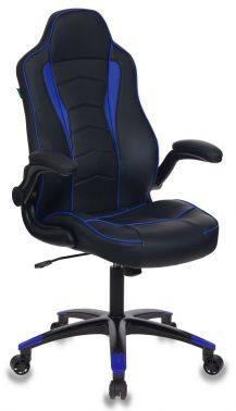 Кресло игровое Бюрократ VIKING-2 черный/синий (VIKING-2/BL+BLUE)