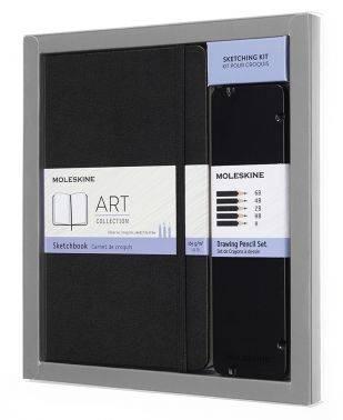 Набор пенал с черногр.карандашами/блокнот Moleskine Art Collection Large