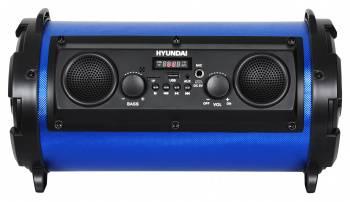 Минисистема Hyundai H-MC200 черный/синий