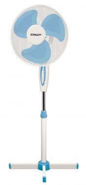 Вентилятор напольный Scarlett SC-SF111B04 белый/голубой (SC - SF111B04)