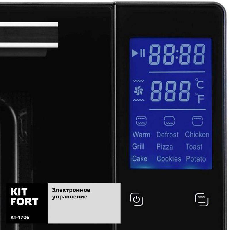 Электропечь Kitfort КТ-1706 черный - фото 4