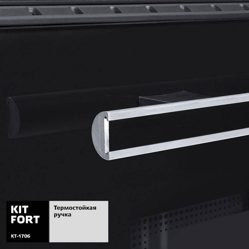Электропечь Kitfort КТ-1706 черный - фото 5