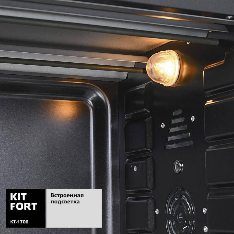 Электропечь Kitfort КТ-1706 черный - фото 6