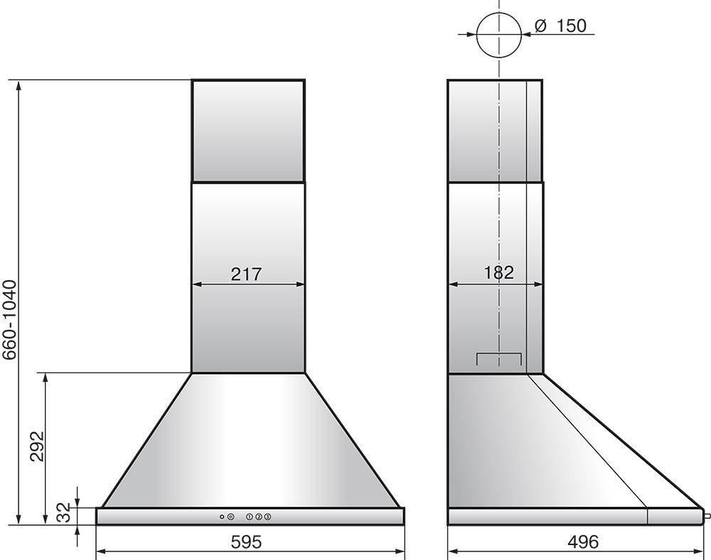 Каминная вытяжка Elikor Сигма 60П-650-К3Д молоко/бронза - фото 2