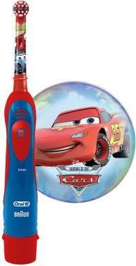 Электрическая зубная щетка Oral-B Power Cars красный/синий (80300245)