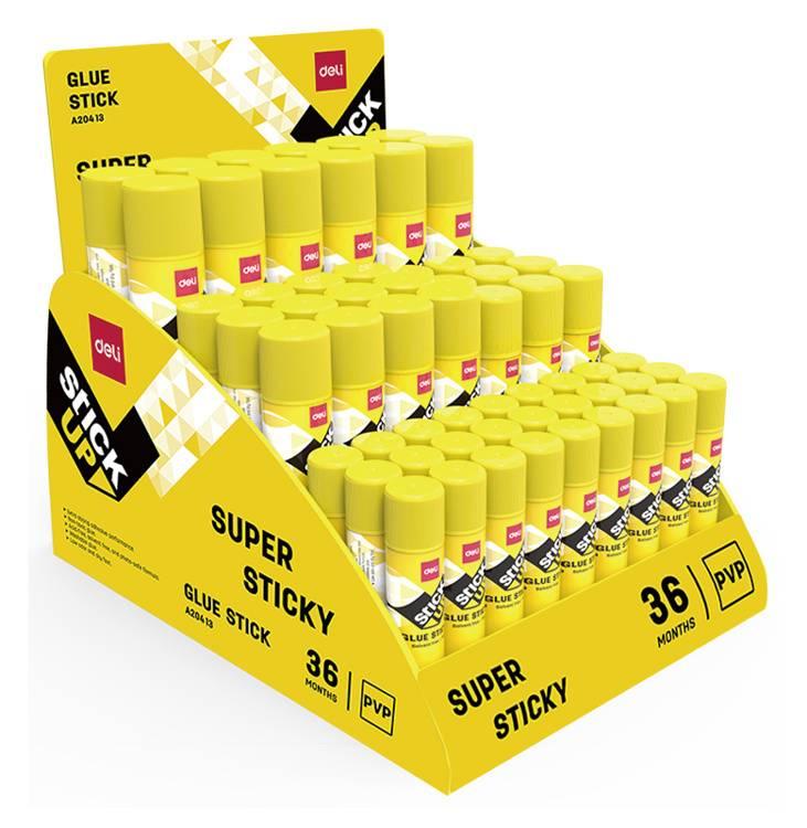 Клей-карандаш Deli EA20413 9гр прозрачный 27x9г 9x15г 12x21г 12x36г (упак.:60шт) Stick UP - фото 1