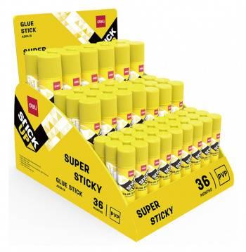 Клей-карандаш Deli EA20413 9гр прозрачный 27x9г 9x15г 12x21г 12x36г (упак.:60шт) Stick UP